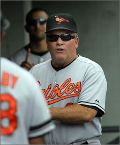 """Orioles manager Dave Trembley has received praise for his no-nonsense manner while injecting """"energy, effort and enthusiasm,"""" according to club president Andy MacPhail."""
