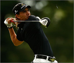 Camilo Villegas pulled ahead at the BMW Championship with a birdie on Sunday morning as he finished off his third round.