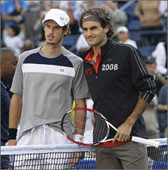 The ATP is no longer just a two-person race at the top. U.S. Open champion Roger Federer, right, the No. 2 player in the world, and runner-up Andy Murray, left, the new No. 4 player in the world, are just two of the ATP's big guns. Top-ranked Rafael Nadal won the French Open and Wimbledon, and No. 3 Novak Djokovic won this year's Australian Open.