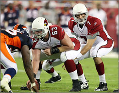 Arizona's Matt Leinart, the team's first-round draft pick in 2006, failed to win the team's starting job this summer, losing out to 37-year-old Kurt Warner.