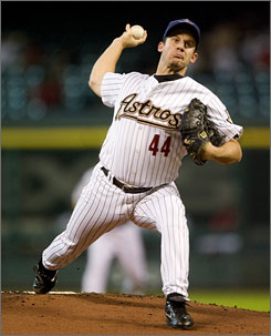 Roy Oswalt and the Astros are three games behind in the National League wild-card race.