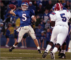 Kansas quarterback Todd Reesing will be throwing against one of the nation's top defenses.