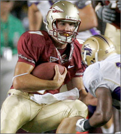 Christian Ponder helped Florida State to an easy win in the opener against Chattanooga.