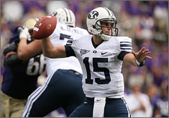 Max Hall is the latest Brigham Young quarterback to post big numbers: 1,095 passing yards and 12 touchdown passes in a 3-0 start, including a 59-0 rout of UCLA on Saturday.