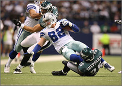 """""""Jerry Jones, I'm sure couldn't be happier,"""" Cowboys tight end Jason Witten said of Monday's win. """"To win a game against Philadelphia on Monday night was great for this team, great for this franchise and great for the fans."""""""