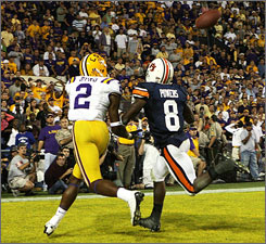 Demetrius Byrd made the game-winning catch for LSU against Auburn in Baton Rouge last year.