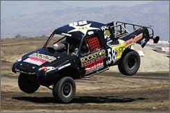 Brian Deegan has traded his motorcycle tricks for tricky truck racing.