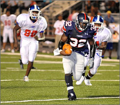 South Panola junior Dominque Carothers rushed for 75 yards and a touchdown last week against Grenada.
