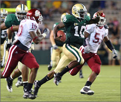 Baylor freshman quarterback Robert Griffin rushed for 217 yards vs. Washington State.