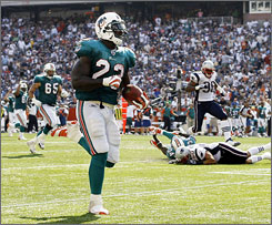 Ronnie Brown's big day against the Patriots, when he accounted for all of the Dolphins' five touchdowns, proved the former second overall pick is ready to pick up where he left off before injuring his knee last season.