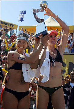 Misty May-Treanor, left, and Kerri Walsh might be done as a team.