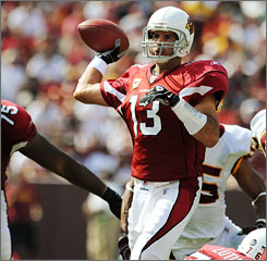 Kurt Warner and the Arizona Cardinals stayed in Northern Virginia this week instead of traveling back across the country before they head to New Jersey to face the New York Jets on Sunday.
