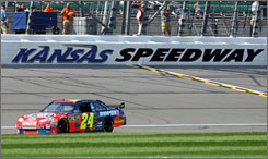 "Kansas Speedway is making a bid to add a second NASCAR race to the track, which will host Sunday's Camping World RV 400. ""To have a second Cup date, a road course, a Grand Am event, we truly solidify ourselves in becoming the Mecca of motor sports in this industry,"" said Kansas Speedway president Jeff Boerger."