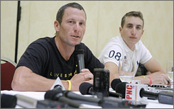 Lance Armstrong speaks about his comeback during a cycling convention in Las Vegas earlier this week. On Saturday, the UCI explained that Armstrong might be ineligible to race in January, the month he has proposed returning to action at an Australia event.