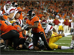 Jacquizz Rodgers scored on this run and one other as Oregon State knocked off Southern California.