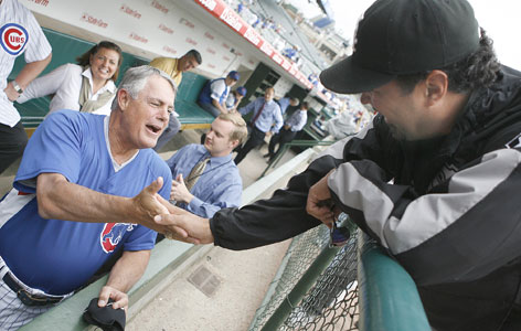 White Sox manager Ozzie Guillen, right, and Cubs manager Lou Piniella hope to guide their teams to an all-Chicago World Series.