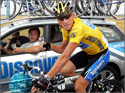 "Seven-time Tour de France champion Lance Armstrong responded strongly to the Tour organizer's new president's comment that he has ""embarrassed"" cycling's premier race."