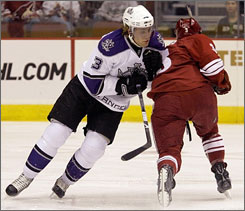 After he played a supporting role last season, the Kings are looking for more out of defenseman Jack Johnson (3).