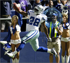 Rookie Felix Jones has scored three touchdowns for the Cowboys in the team's first five games.