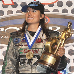 Ashley Force, currently fifth in Funny Car points, hopes to add a Richmond win to her victory earlier this season in Atlanta.