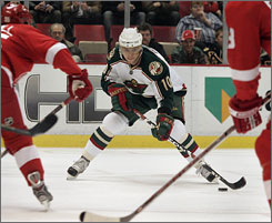 One of the biggest questions hanging over the 2008-09 NHL season is whether the Wild can re-sign Marian Gaborik. Gaborik and the Wild are in talks for a long-term deal, but the team could trade him early if they can't get him signed.