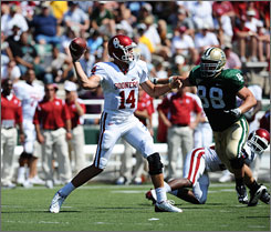 Quarterback Sam Bradford's Sooners are averaging 49.6 points per game.