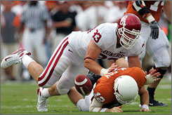 Oklahoma's Auston English helped the Sooners get the best of Texas and quarterback Colt McCoy last year.