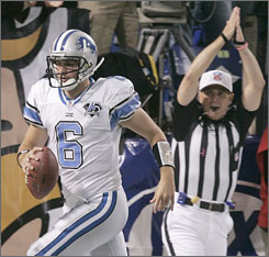 """When they started blowing the whistle,"" Lions QB Dan Orlovsky said of his safety, ""I was like, 'Did we false start or were they offsides or something?' Then I looked and I was like, 'You are an idiot.' """