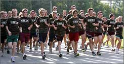 Green Hope's cross country team has no trouble finding enough runners to compete.