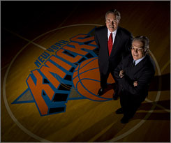 Coach Mike D'Antoni, left, and general manager Donnie Walsh were hired to revive a moribund Knicks franchise.