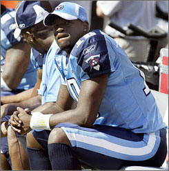 """A lot of people were saying that I'm not supportive of Kerry (Collins) and I'm not asking him for advice,"" Titans backup QB Vince Young said. ""I don't know why that's been going around, but that's my man, that's my guy."""