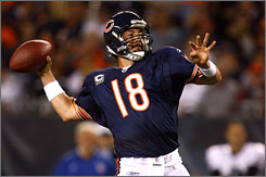 Kyle Orton and the Bears are 3-3 and hold a share of first place in the NFL North. On Sunday, they'll play division foe Minnesota.