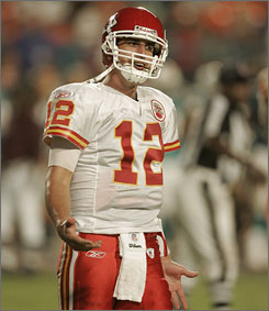"""What are the challenges that the NFL presents to a young quarterback? """"There are just so many coverages, so many different looks, so many exotic blitzes,"""" says Chiefs QB Brodie Croyle."""