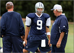 Tony Romo worked out with the Cowboys on Thursday and might be available in Sunday's game.