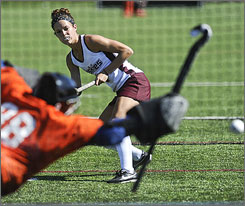 """Jamie Vanartsdalen walked on to the Bloomsburg field hockey team as a freshman and now holds the all-time record for scoring in Division II. """"I just go out every game and play. The records just kind of fell into place,"""" she says. """"I've always had good teammates around me. ... They make me look good."""""""