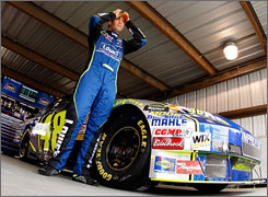 Jimmie Johnson prepares for practice on Saturday at Martinsville (Va.) Speedway.