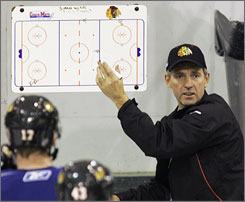 Denis Savard was fired as the coach of the Chicago Blackhawks last week after just more than a year coaching the team.