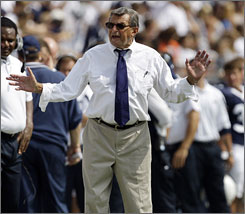 Joe Paterno has his Penn State team four wins away from an unbeaten regular season.