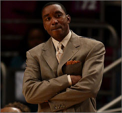 Isiah Thomas has drawn criticism for his reaction after an ambulance was called to his home in suburban New York on Friday.