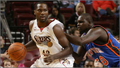 Elton Brand led the Sixers in rebounding over the preseason, averaging 7.7 boards per game.