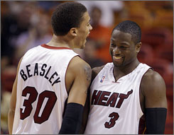 Heat newcomer Michael Beasley with have teammate Dwyane Wade's expertise to lean on in his rookie season.