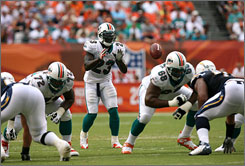 The Dolphins' use of the Wildcat formation with running back Ronnie Brown taking snaps has been one of the most talked-about stories of the NFL's first half.