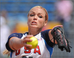 Softball player Jennie Finch was on Beijing's watch list.