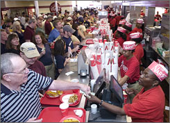Saturdays during the football season keep the crew at The Varsity busy all day.