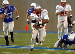 New Mexico tailback Rodney Ferguson is the Mountain West Conference's rushing leader.