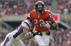 Matt Forte has 515 rushing yards and four touchdowns this season for Chicago, giving the Bears a consistent force in the backfield.
