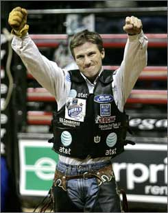 Justin McBride celebrated victory in the 2007 final in Las Vegas.