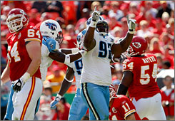 Titans DT Albert Haynesworth has been a catalyst of the team's tough play in its 7-0 start.