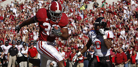 Glen Coffee and the Alabama Crimson Tide cruised past Arkansas State on Saturday and took over the top spot in the BCS standings on Sunday.