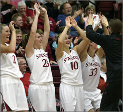 """The team just feels so much more mature this year ..."" Tara VanDerveer says of her Stanford Cardinal this season. ""There's just a different energy. I hope it continues."""